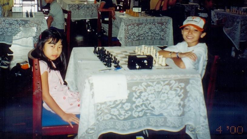 Meu primeiro Brasileiro, tinha 8 anos em Abril de 2000. Terminei em terceiro lugar, a campeã foi a Vanessa. Essa foi a primeira partida com a Vanessa, terminou em empate.