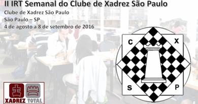 II IRT Semanal do Clube de Xadrez São Paulo